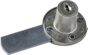 Serratura da applicare a cilindro per anta o cassetto - interasse 53 - Serratura da applicare a cilindro per anta o cassetto - paletto ridotto, interasse 30 - SPAL04577