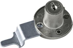 Serratura da applicare a cilindro per anta o cassetto - paletto ridotto e piegato - SPAL04236-b
