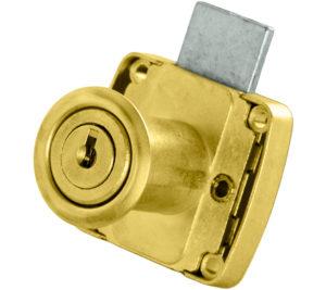 Serratura dorata per anta o cassetto