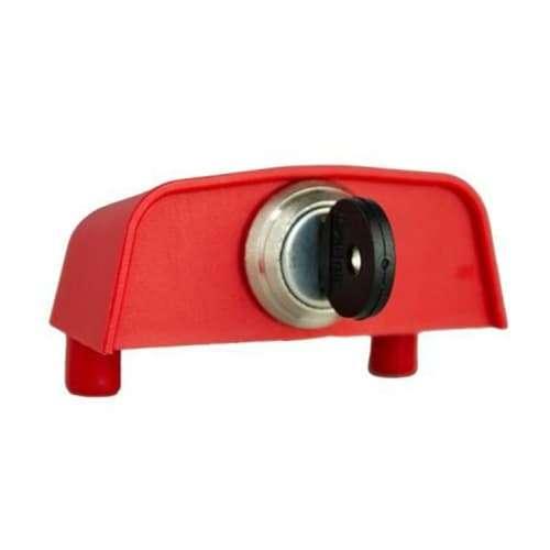Cupolotto piccolo con pomolino per serratura cassonetti e bidoni dell'immondizia