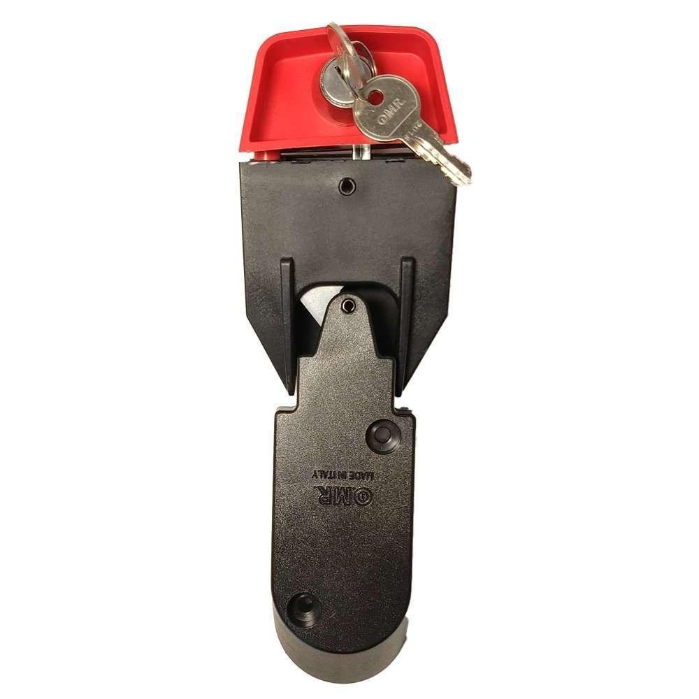 Serratura per cassonetti e bidoni dell'immondizia - Chiusura manuale con cupolotto grande e serratura con chiave cifrata