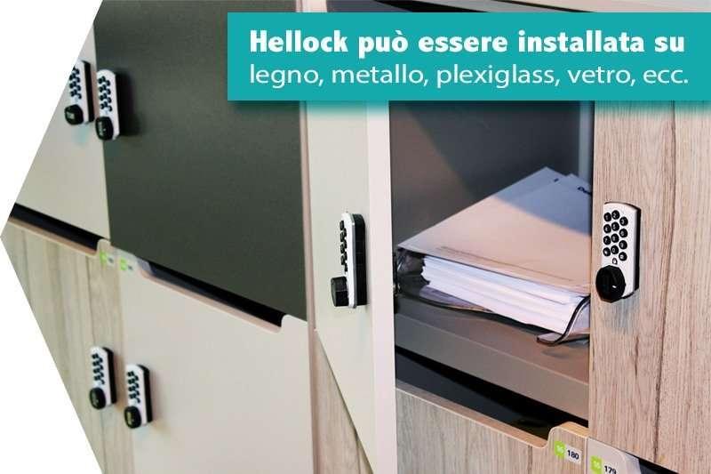 Hellock monta su tutte le superfici: legno, metallo, vetro, plexiglass, ecc