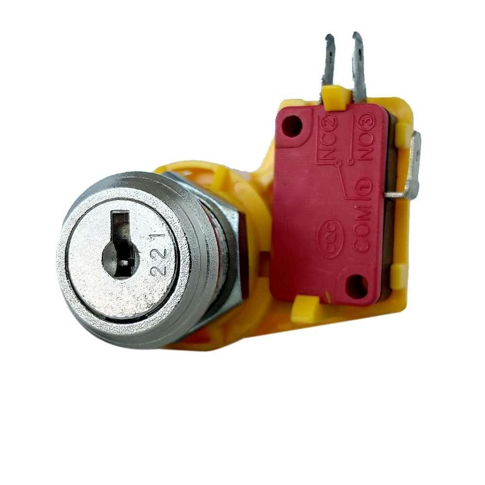 Serratura universale a lamelle Ø 19 con contatto elettrico