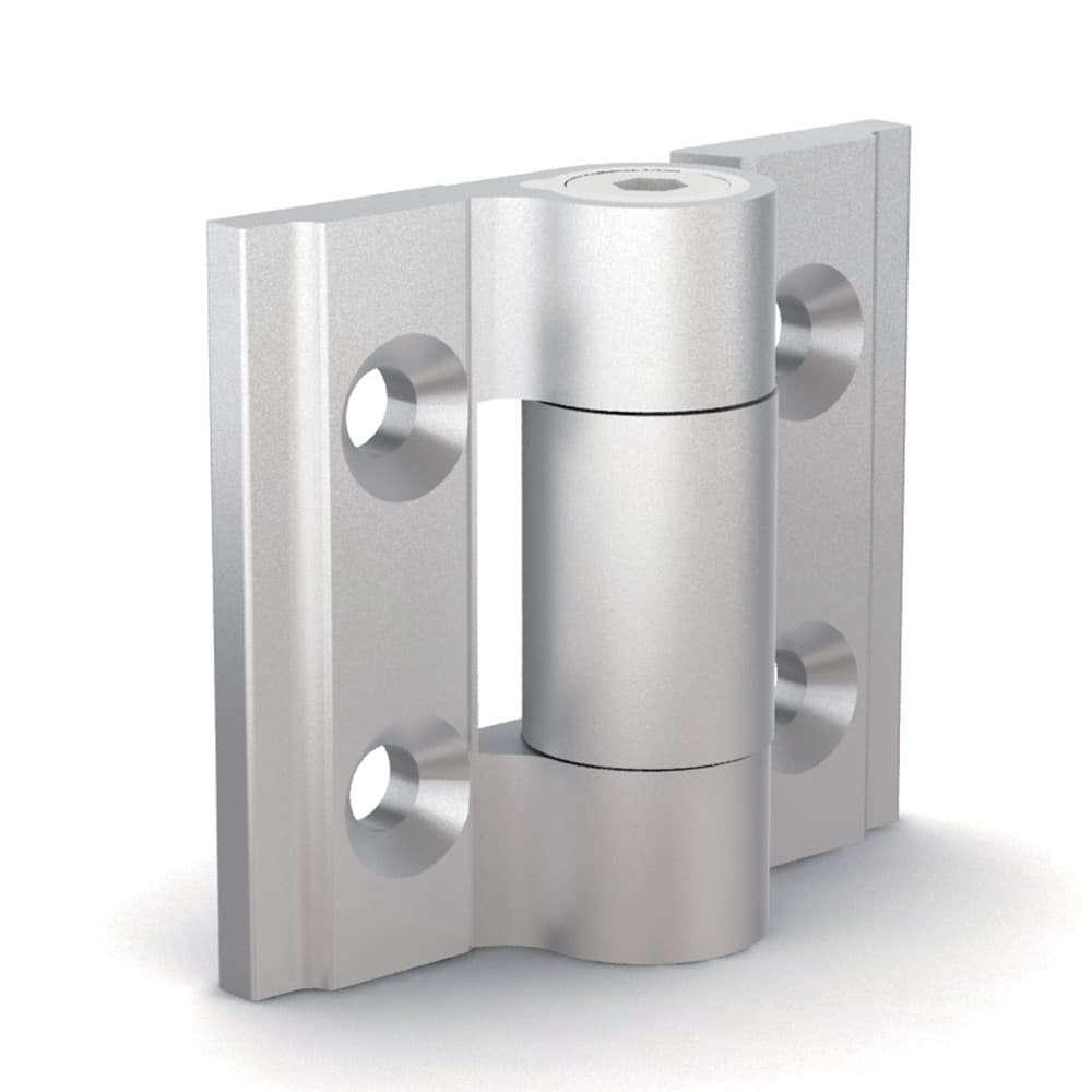 Cerniera ammortizzata in alluminio